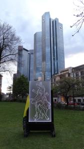 Jovica Savin - Kunstobjekt der Künstlerin Maja Stolic auf der LUMINALE Frankfurt