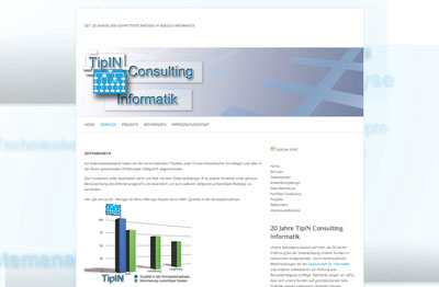 Webdesign für TipIN Consulting