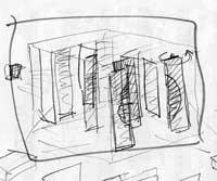 """erste Skizze für die animation """"sinn lich t"""""""