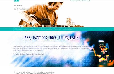Webdesign für JoSavin Gitarrist Gitarrenunterricht