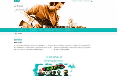 Webdesign für JoSavin Gitarrist