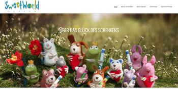 webauftritt fantasievoll-schenken für Sweet World Design