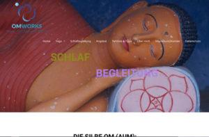Omworks Yoga für Tag und Nacht. Yoga und Schlafbegleitung Webdesign Logodesign www.groovygrafillero.de